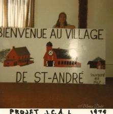 Pancarte Rang Levesque / Rang Levesque Sign 1979