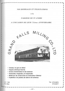 Annonce Grand Falls Milling Ad