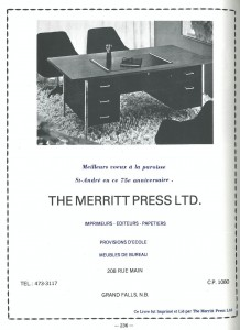 Annonce Merritt Press Ad