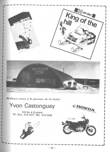 Annonce Yvon Castonguay Ad
