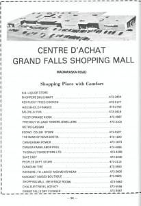 Annonce du Centre d'Achat de Grand-Sault / Grand Falls Shopping Mall ad